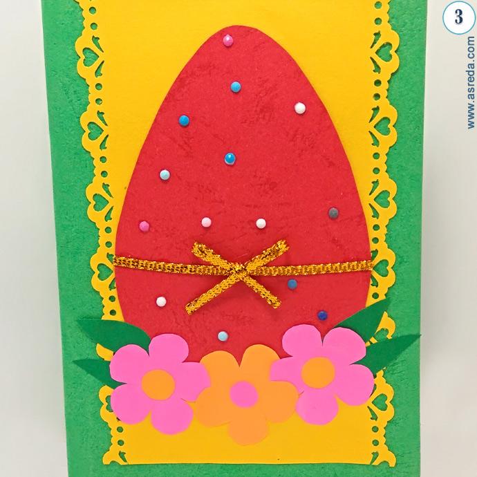 Открытки с пасхой из цветной бумаги